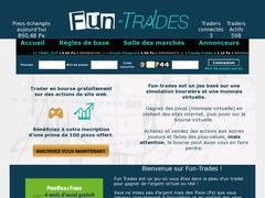 screenshot du site internet fun-trades